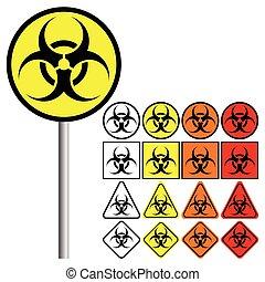 ), (, シンボル, biohazard, 危険, 生物学である, アイコン