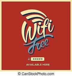 シンボル, wifi, スタイル, 無料で, レトロ