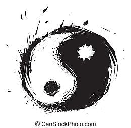 シンボル, yin - yang, 芸術的