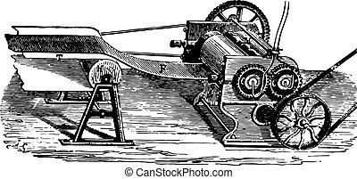 シート, engraving., 製造, 薄板にされる, 型, ゴム, シリンダー