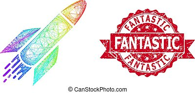 シール, ロケット, textured, 切手, ふ化した, 素晴らしい, スペクトル