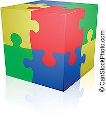 ジグソーパズル, 立方体