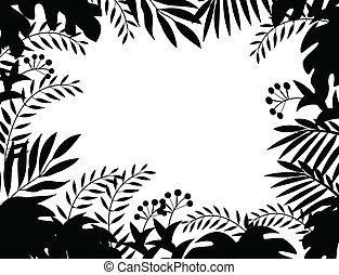 ジャングル, シルエット