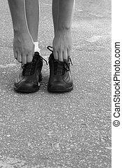 ジョッギング, 靴, 手