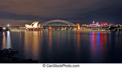 スカイライン, シドニー, 夜