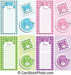 スクラップブック, 要素, デザイン, 熊