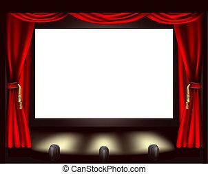 スクリーン, 映画館