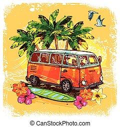 スケッチ, 概念, サーフィンをしなさい, バス