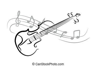 スケッチ, violin.