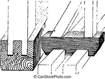 スケート, 型, フレームワーク, engraving.