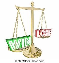 スケール, 重くのしかかる, 勝利, イラスト, ∥対∥, 失いなさい, 利益, 3d