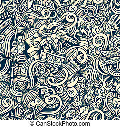 スタイル, アフリカ, hand-drawn, 主題, doodles, 漫画, 主題