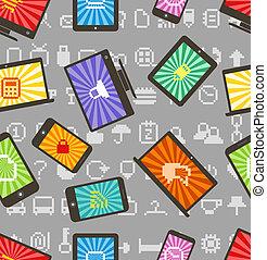 スタイル, パターン, 抽象的, 現代, seamless, 小道具