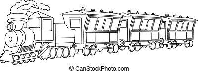 スタイル, 型, locomotive.