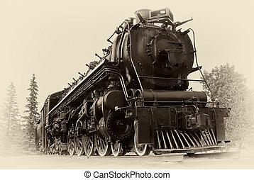 スタイル, 蒸気, 型, 列車, 写真