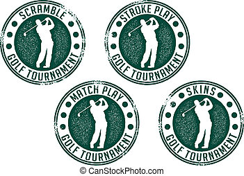 スタンプ, トーナメント, ゴルフ
