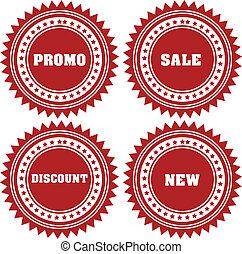 ステッカー, セール, promo, 割引