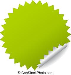 ステッカー, ベクトル, 緑