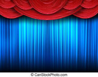 ステージ, カーテン, 現代