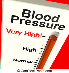 ストレス, 高血圧, 非常に, 高圧, 提示, 血