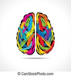 ストローク, 脳, 創造的, ペンキ