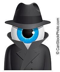 スパイ, 眼球