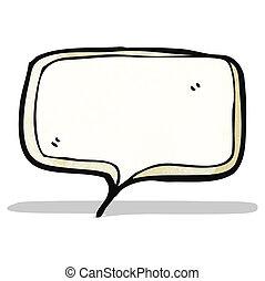 スピーチ泡, 漫画
