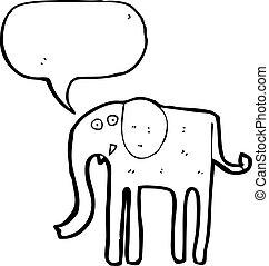 スピーチ泡, 漫画, 象
