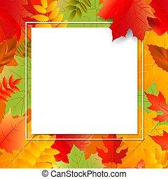 スピーチ泡, 色, 秋, 背景, 透明, ポスター, 葉