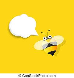 スピーチ泡, 蜂