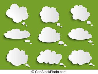スピーチ泡, 雲, コレクション