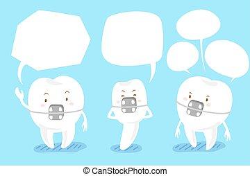 スピーチ, 支柱, 泡, 歯