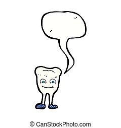 スピーチ, 歯, 泡, 漫画