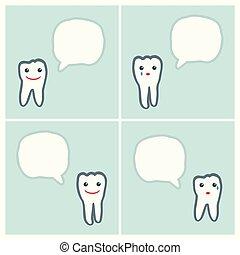 スピーチ, 歯, 泡, 特徴