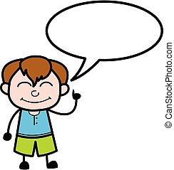 スピーチ, 男の子, bubbble, 漫画, 十代