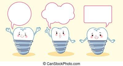 スピーチ, 移植, 泡, 歯