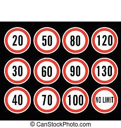 スピード, ベクトル, 限界, サイン