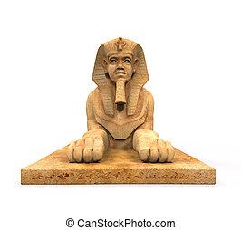 スフィンクス, 像, エジプト人