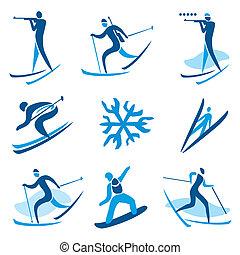 スポーツ, シンボル, 冬
