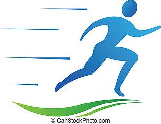 スポーツ, 人, フィットネス, 動くこと, fast.