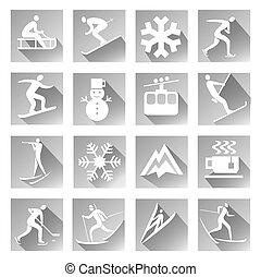 スポーツ, 冬, アイコン