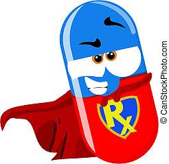 スーパーヒーロー, 丸薬