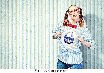 スーパーヒーロー, 女, 若い