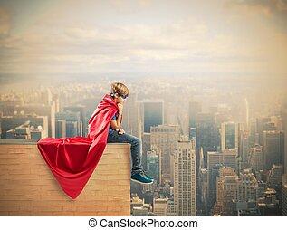 スーパーヒーロー, 子供