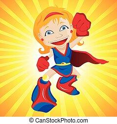 スーパーヒーロー, girl.
