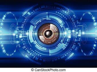 セキュリティー, ベクトル, システム, 背景, 抽象的, 未来, 技術の 実例