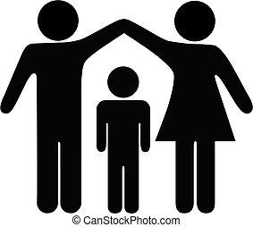 セキュリティー, 母, 父, 家族, 子供