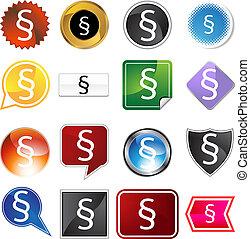 セクション, シンボル, アイコン, セット