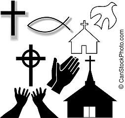 セット, キリスト教徒, アイコン, シンボル, 他, 教会