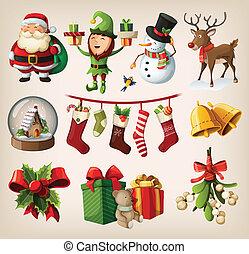 セット, クリスマス, 特徴